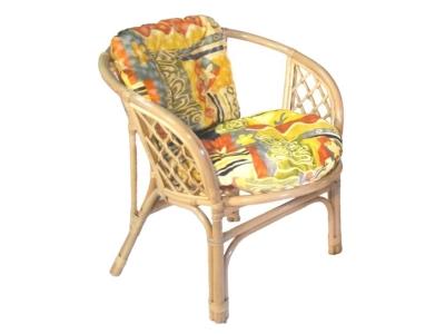 Кресло Багама натуральный с цветной подушкой