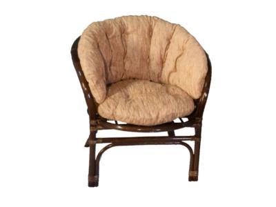 Кресло Багама темно-коричневый со светлой полной подушкой