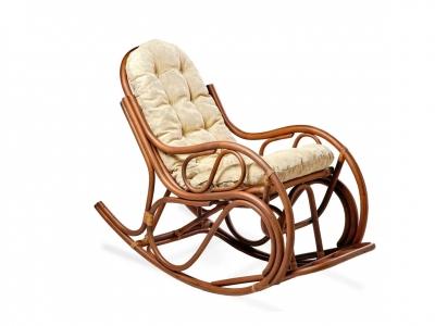 Кресло-качалка 05/04 с толстой подушкой орех матовый