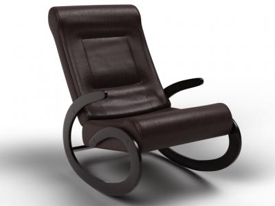 Кресло-качалка Мальта экокожа венге