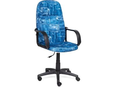 Кресло Leader ткань Принт Джинса