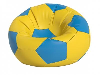Кресло-мешок Мяч средний нейлон желто-голубой