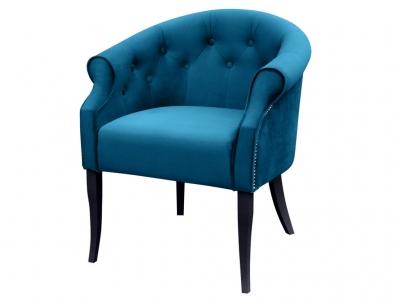 Кресло Милан Энигма темно-бирюзовая черные опоры