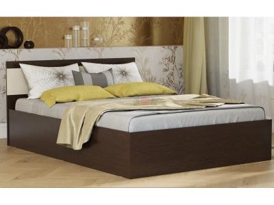 Кровать-12 двойная с подъемным механизмом Фант венге-млечный дуб