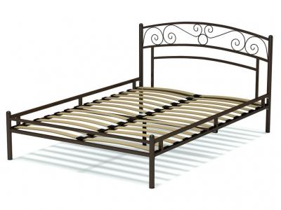 Кровать 140 Адель металлическая Венге