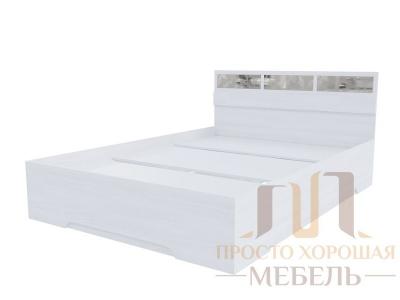 Кровать 1400 Николь 1 со стеклами