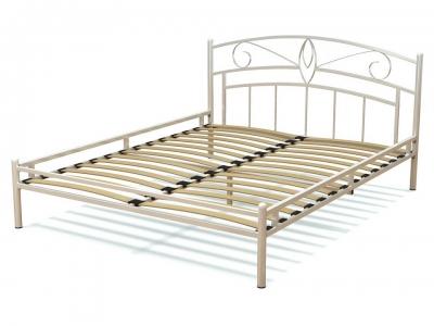 Кровать 160 Арго металлическая Белый глянец