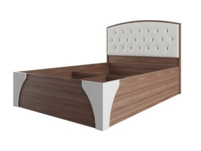 Кровать 1600 Лагуна 7 с пуговицами 1682х1014х2095