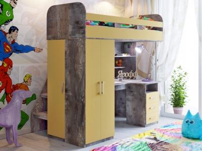 Кровать чердак Аракс бетон-зира