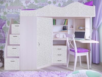 Кровать-чердак Пионер фасад для рисования феритейл