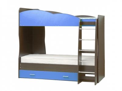 Кровать детская двухъярусная Юниор-2.1 Синий