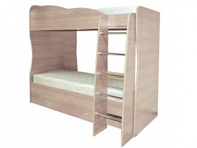 Кровать детская двухъярусная Юниор-2 Ясень шимо светлый