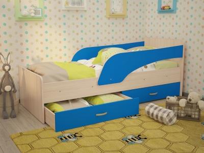 Кровать детская Кроха дуб-синий