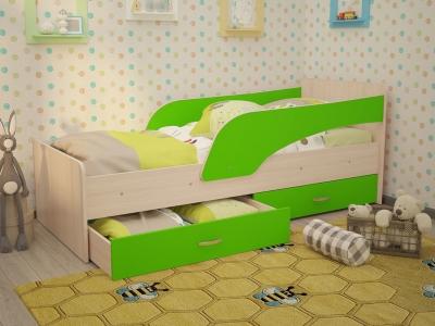 Кровать детская Кроха дуб-зеленый