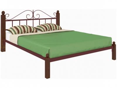 Кровать Диана Lux коричневая