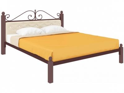 Кровать Диана Lux мягкая коричневая