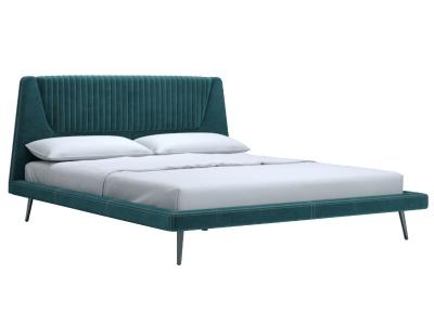 Кровать Дольче 160 c основанием аврора нави