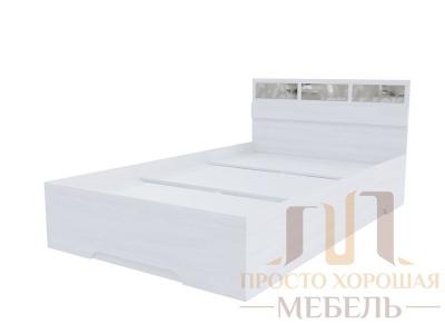 Кровать двойная 1200 Николь 1 со стеклами