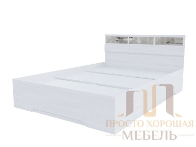 Кровать двойная 1400 Николь 1 со стеклами