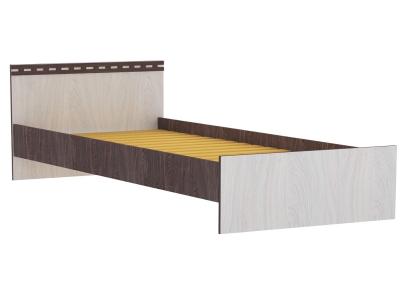 Кровать двойная 1400 Ольга 13 ясень анкор темный-светлый