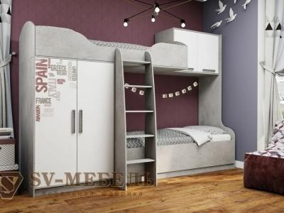 Кровать двухъярусная Грей