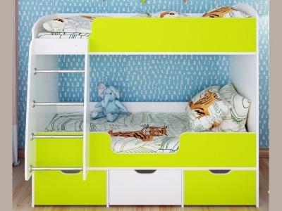 Кровать двухъярусная Малыш двойняшка
