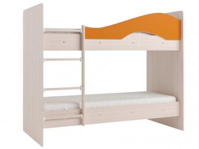 Кровать двухъярусная Мая дуб-оранж