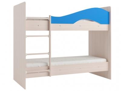 Кровать двухъярусная Мая дуб-синий
