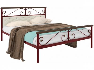 Кровать Эсмеральда plus мягкая красная