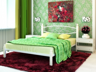 Кровать Каролина Lux белая