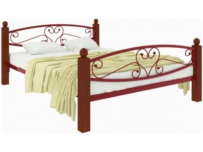 Кровать Каролина Lux plus красная