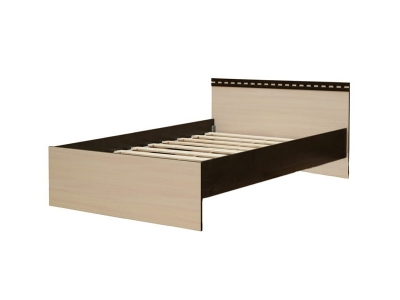 Кровать одинарная 800 Ольга 13 венге-млечный дуб