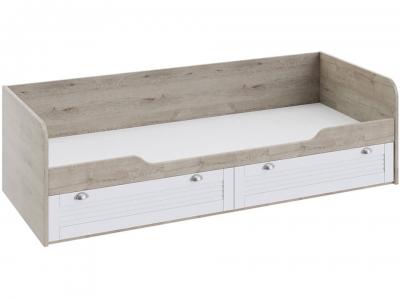 Кровать с 2 ящиками Ривьера ТД-241.12.01 Дуб Бонифацио, Белый