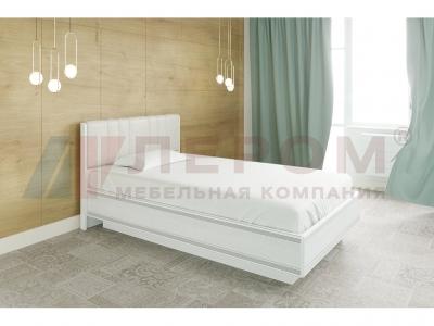 Кровать с мягким изголовьем КР-1011 1200х2000 Снежный Ясень