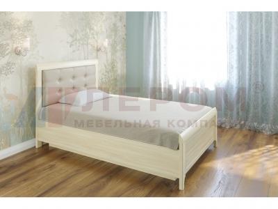 Кровать с мягким изголовьем КР-1031 1200х2000 Ясень Асахи