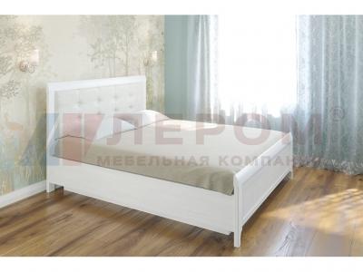 Кровать с мягким изголовьем КР-1033 1600х2000 Снежный Ясень