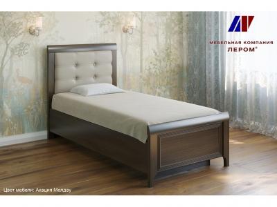 Кровать с мягким изголовьем КР-1035 900х1900 Акация Молдау