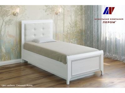 Кровать с мягким изголовьем КР-1035 900х1900 Снежный Ясень