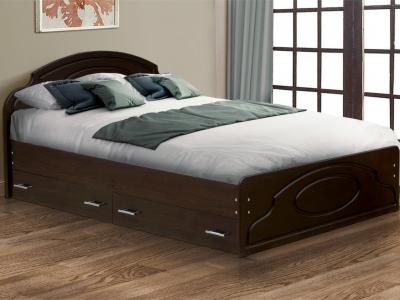 Кровать Венеция 2 матовая с ящиками