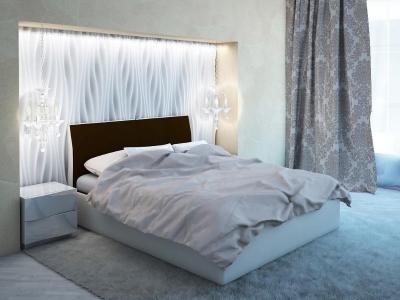 Кровать Visconti коричневая спинка-бежевые царги