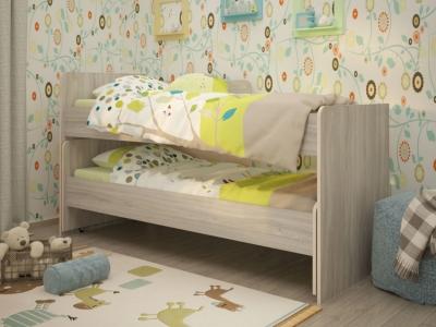 Кровать выкатная Радуга 80х190 ясень шимо