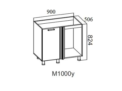 Кухня Волна Стол-рабочий угловой 1000 под мойку М1000у Левый 824х900х506-600мм