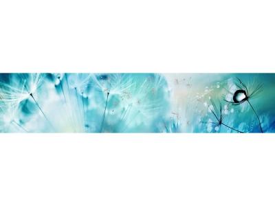 Кухонный фартук эффект мерцания Композит Одуванчики синие