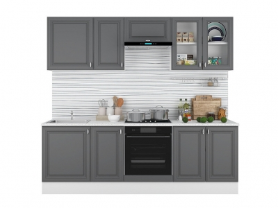 Кухонный гарнитур Ева 2400 Графит