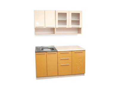Кухонный гарнитур Ирбея 1.4 МДФ оранжевый