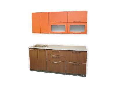 Кухонный гарнитур Ирбея 1.8 МДФ оранжевый
