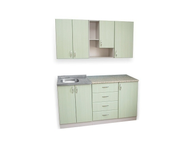 Кухонный гарнитур Ирбея 4.5 МДФ зеленый