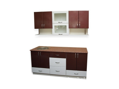 Кухонный гарнитур Ирбея 4.7 МДФ пурпур-белый