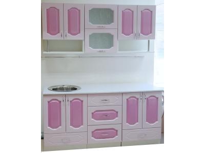Кухонный гарнитур Ирбея 4.7 МДФ розовый