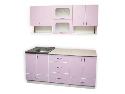 Кухонный гарнитур Ирбея 4.7 розовый